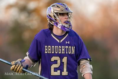 Broughton varsity lacrosse vs Millbrook. March 27, 2019. D4S_5386