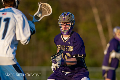Broughton varsity lacrosse vs Millbrook. March 27, 2019. D4S_5237