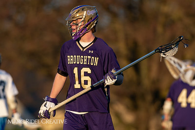 Broughton varsity lacrosse vs Millbrook. March 27, 2019. D4S_5241