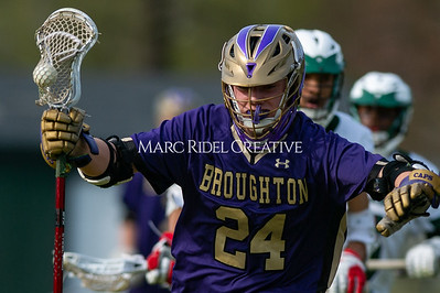 Broughton varsity lacrosse vs Southeast Raleigh. April 4, 2019. D4S_1772