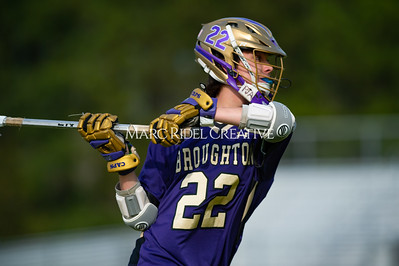 Broughton varsity lacrosse vs Southeast Raleigh. April 4, 2019. D4S_1712
