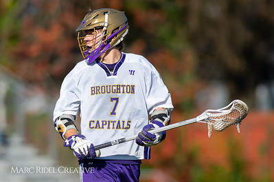 Broughton JV lacrosse vs Athens Drive. March 28, 2019. D4S_7359