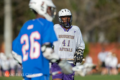 Broughton JV lacrosse vs Athens Drive. March 28, 2019. D4S_7587