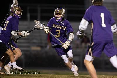 Broughton varsity lacrosse vs Panther Creek. March 4, 2019. D4S_3661