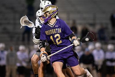 Broughton varsity lacrosse vs Panther Creek. March 4, 2019. D4S_3677