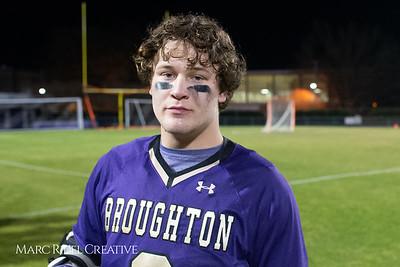 Broughton varsity lacrosse vs Panther Creek. March 4, 2019. D4S_3757