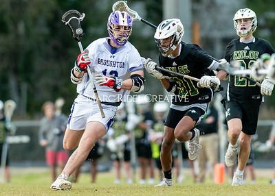 Broughton boys varsity lacrosse vs Enloe. March 10, 2020. D4S_7920