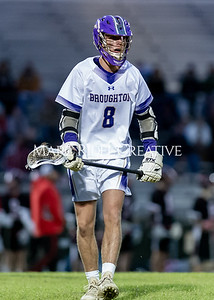 Broughton boys varsity lacrosse vs Middle Creek. February 28, 2020. D4S_0771