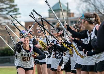Broughton girls varsity lacrosse vs Middle Creek. February 28, 2020. MRC_5462