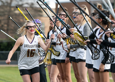 Broughton girls varsity lacrosse vs Middle Creek. February 28, 2020. MRC_5447