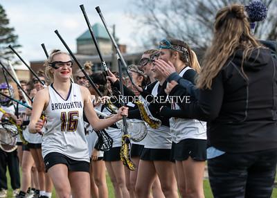 Broughton girls varsity lacrosse vs Middle Creek. February 28, 2020. MRC_5450