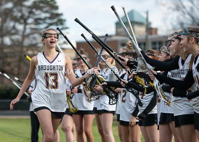 Broughton girls varsity lacrosse vs Middle Creek. February 28, 2020. MRC_5432