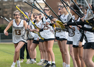 Broughton girls varsity lacrosse vs Middle Creek. February 28, 2020. MRC_5430