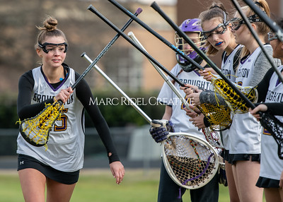 Broughton girls varsity lacrosse vs Middle Creek. February 28, 2020. MRC_5475