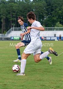 Broughton varsity soccer vs Green Level. August 25, 2021