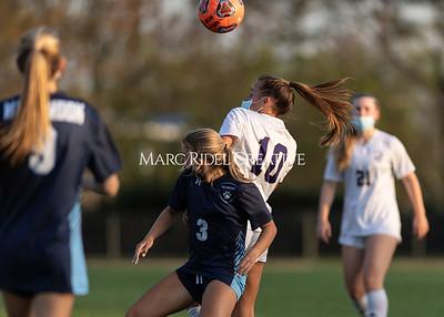 Broughton Lady Caps varsity soccer vs Millbrook. April 6, 2021