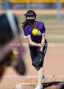 Broughton Lady Caps softball vs Cardinal Gibbons. March 29, 2021