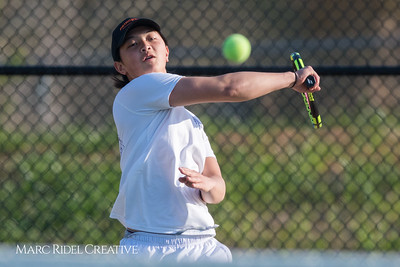 Broughton tennis vs. Cardinal Gibbons. April 12, 2018.