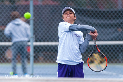 Broughton tennis vs. Middle Creek. March 27, 2018.