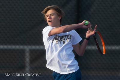 Broughton tennis vs Leesville, March 7, 2019. D4S_4379