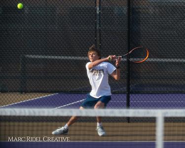 Broughton tennis vs Leesville, March 7, 2019. D4S_4394