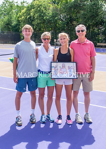 Broughton Lady Caps tennis vs Leesville. Senior Night.. June 1, 2021