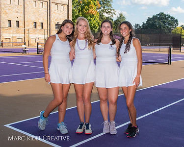 Broughton tennis Senior Night vs Raleigh Charter. October 4, 2018.