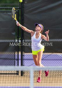 Broughton Lady Caps varsity tennis vs Millbrook. August 23, 2021