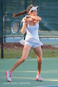 Broughton junior Becket Waters competes in the NCHSAA 4A Women's Individual Tennis State Championship. October 27, 2017.