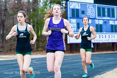 Broughton track and field vs. Enloe and Cardinal Gibbons. March 27, 2018.