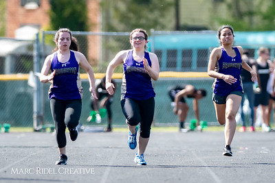 Broughton track and field vs. Millbrook. April 18, 2018.