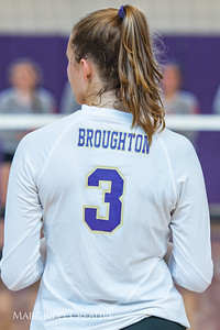 Broughton volleyball vs. Athens Drive. August 14, 2018.