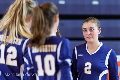Broughton volleyball vs. Cary. August 16, 2018.