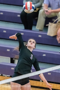 Broughton volleyball vs Corinth Holders. October 23, 2018.