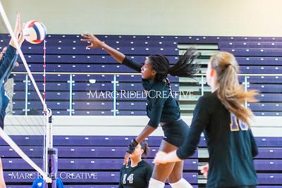 Broughton varsity volleyball vs Millbrook. October 2, 2018.