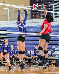 Broughton Volleyball vs. Rolesville. August 16, 2017