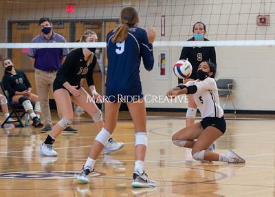 Broughton varsity volleyball vs. Heritage. August 26, 2021