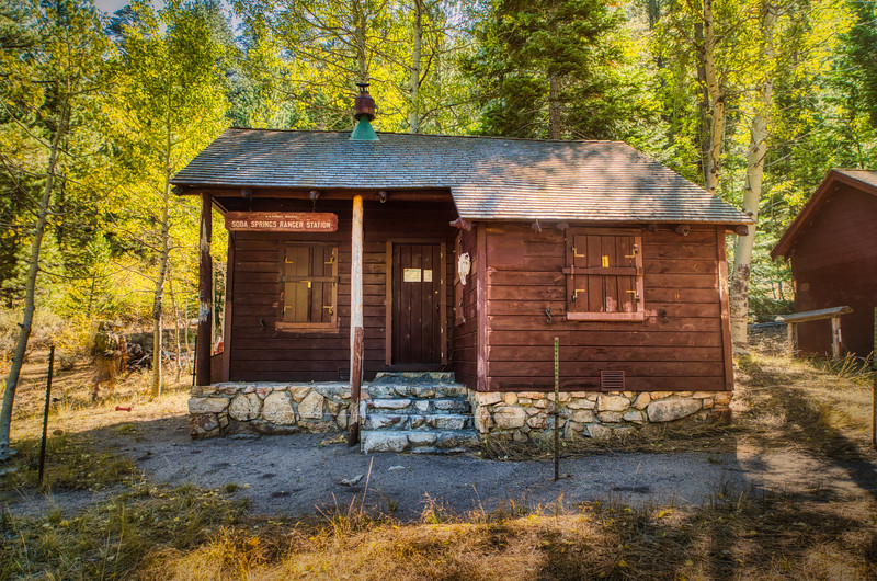 Soda Springs Ranger Station in Fall