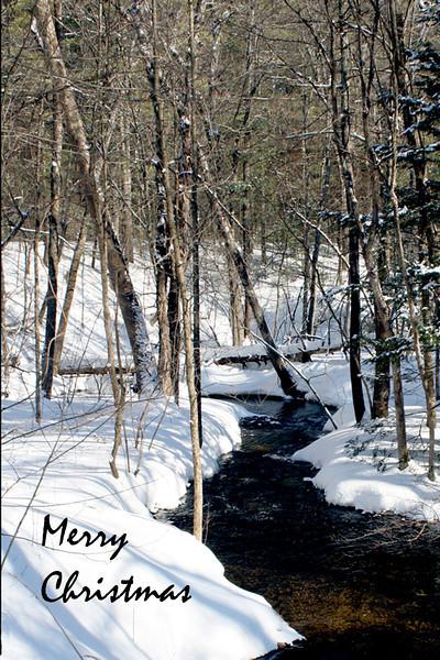 HO 32  Hollis Stream in Winter