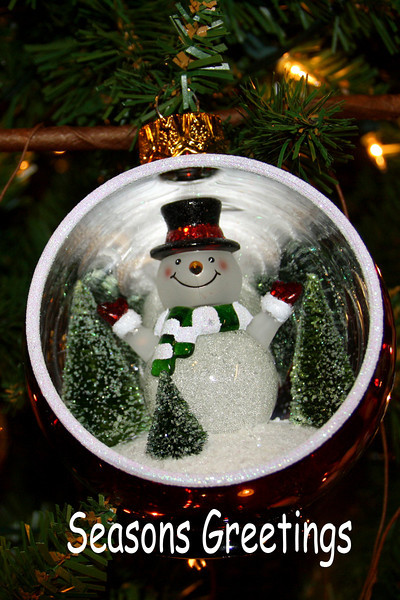HO 16 Snowman Greetings
