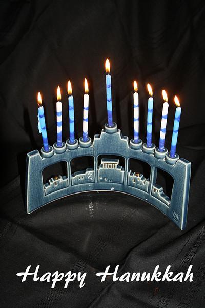 HO 25 Hanukkah Menorah