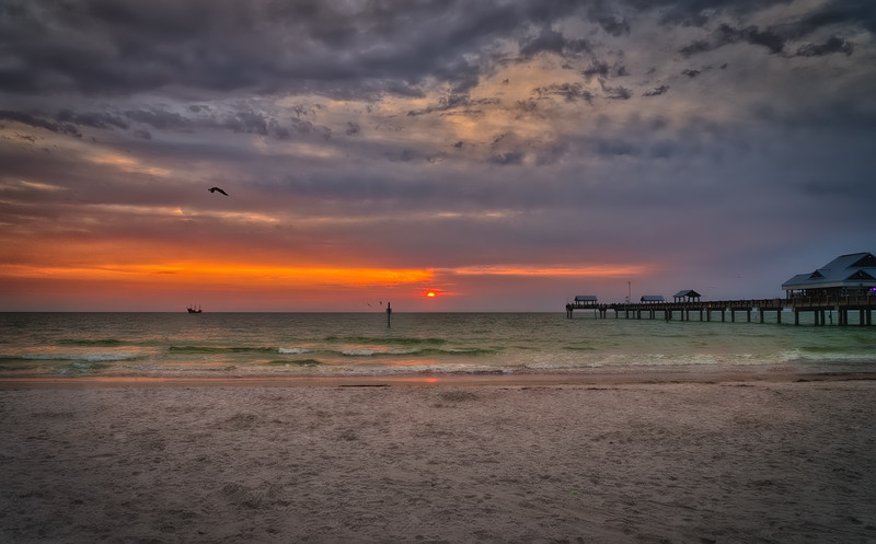 Sunset at Clearwater Beach and Pier 60