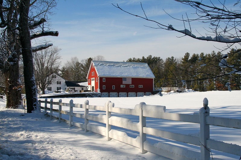 SC 302W Hollis Barn in Winter