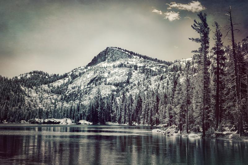 Crag Lake- Black and White