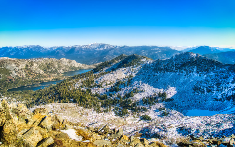 Upper and Lower Echo Lake from Ralston Peak