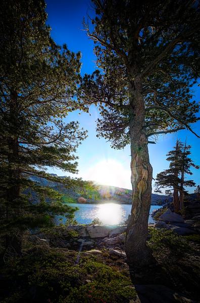 Sunset over American Lake