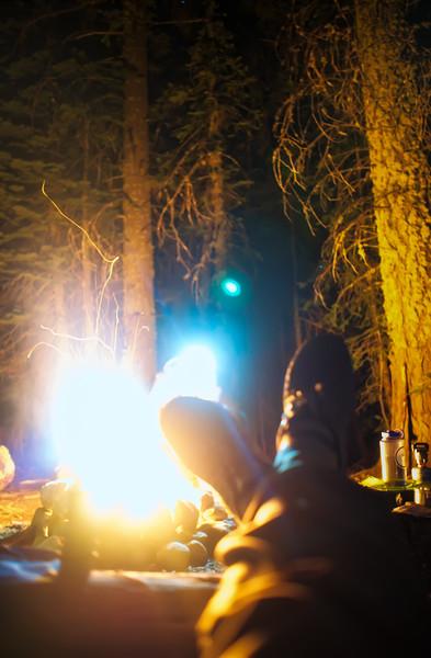 Kicking back at camp
