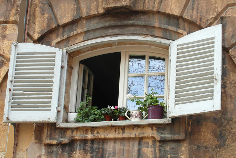 Window with Plants, Aix-en-Provence, France