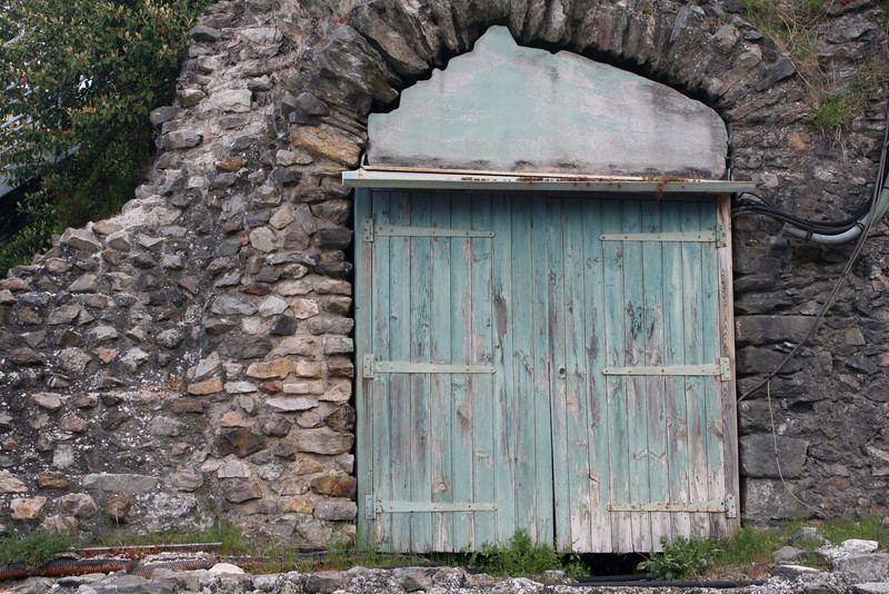 Old Door in Amphitheatre, France