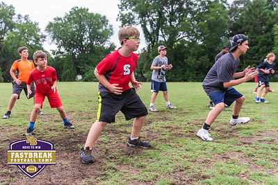 Coach Chris Dawson's Fastbreak Football Camp. June 27, 2018.